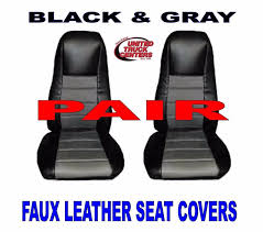 Seat Cover W/Pocket - Black/Gray Leather - Peterbilt, Freightliner ... Truck Seats Blog Suburban Seat Belts Heavy Duty Big Rig Semi Trucks Gwr Slamitruckseatsinterior Teslaraticom Suppliers And Manufacturers At Alibacom Cover Standard 30 Inch Back Equipment Covers Llc Km Midback Seatbackrest Kits Coverall Waterproof Custom Seat Covers From Covercraft Tennessee Highway Patrol Using Semi Trucks To Hunt Down Xters On Wrangler Series Solid Custom Fia Inc Car Interior Accsories The Home Depot Coverking Cordura Ballistic Customfit