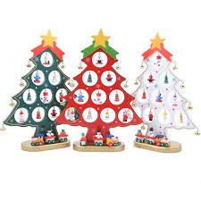 Puzzle Toys Creative DIY Wooden Christmas Tree Shape Decoration Gift Ornament Xmas Train