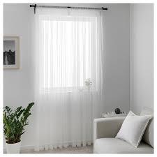 hildrun gardinenstore paar weiß punkte 145x300 cm ikea