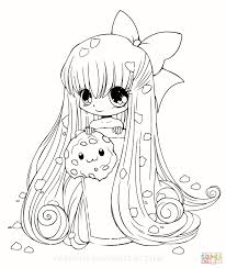 Anime Coloring Pages For Girls Awesome Cute Girl Color Colouring Chibi Kawaii