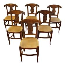 19th Century Vintage French Dining Chairs- Set Of 6 | Chairish Antique Set 10 Victorian Mahogany Balloon Back Ding Chairs 19th Of Six Century French Louis Xvi Cane Dutch Marquetry Inlaid Of 6 Legacy 12 Ft Flame Table 14 Chairs Room In Stock Photos Chairsgothic Chairsding Chairsfrench Fniture Single 2 Arm Late Hepplewhite Style Camelback 18th Walnut Chair With Queen Anne Legs English Cira 4 Turn The Century Ding In Wallasey Merseyside Gumtree 9776 Early Regency Vinterior