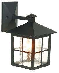 maine black mains powered external wall lantern departments