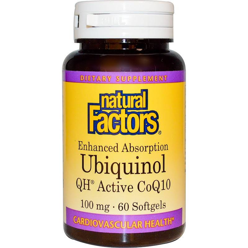 Natural Factors Ubiquinol 100Mg Dietary Supplement - 60 Softgels
