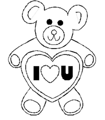 Valentines Day Coloring Pages Bear I Love U