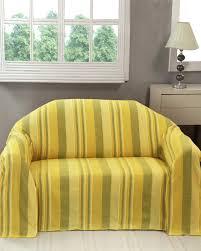 jeté de canapé jaune jeté de lit ou de canapé morocco rayures jaune homescapes