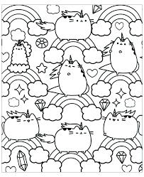 Coloriage Kawaii Chat Bondless