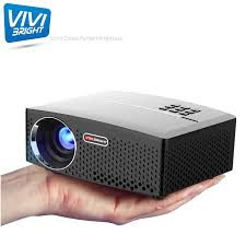 100 Bright Home Theater Vivibright GP80 New Projector 1800Ansi Lumen Full HD 1920 X 1080P LED LCD Projector For