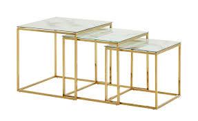 bestelltisch 3er set ischia gold tische beistelltische beistelltische ohne rollen höffner