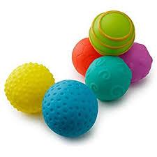 Playkidz Super Durable 6 Pack Sensory Balls Soft Textured For Babies