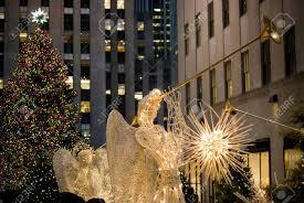 Rockefeller Plaza Christmas Tree by Manhattan December 3 The Rockefeller Center Christmas Tree