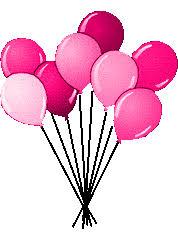 pink birthday balloons clipart