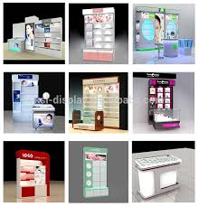 Low Cost Custom Tailor Cosmetics Showcase Display Standglass