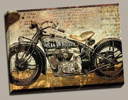 Entrancing 25 Harley Davidson Wall Art Decorating Design Of 3D Amazoncom Portfolio Canvas Dcor Large Printed