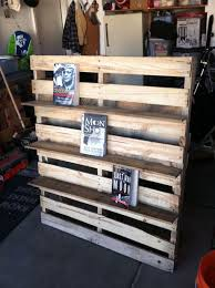 Furniture Charming Diy Wood Pallet Bookshelf With Grey Floor