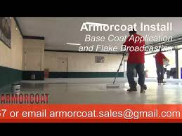 Sherwin Williams Epoxy Floor Coating Colors by Armorcoat Epoxy Concrete Floor Coating Color Flake System Youtube