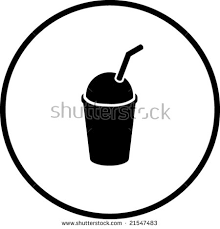Iced Coffee Clipart Black And White