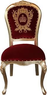 pompöös by casa padrino luxus barock esszimmer stuhl bordeaux gold mit krone pompööser barock stuhl designed by harald glööckler