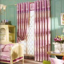 luxus chenille blumen rosa schlafzimmer gardinen