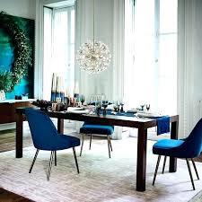 Blue Dining Room Table Modern Chairs Mid Century Upholstered Chair Velvet West Elm