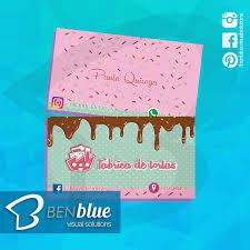 Tarjetas De Presentación FabricaDeTortas Cakes Pasteleria