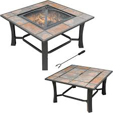 axxonn 2 in 1 malaga square tile top pit coffee table