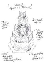 Prince William and Kate Middleton Fantasy Royal Wedding Cake Sketches