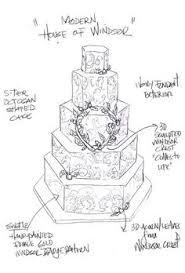 Prince William and Kate Middleton Fantasy Royal Wedding Cake Sketches