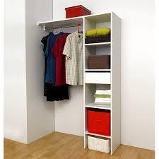 armoire chambre 120 cm largeur dress kit aménagement de placard contemporain blanc mat l 120 cm