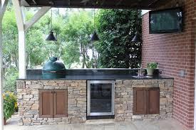 Adorable Green Egg Outdoor Kitchen And Big
