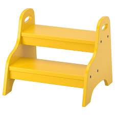 trogen tritthocker für kinder gelb 40x38x33 cm