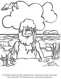 BIBLE COLORING PAGES Jonah Learns To Obey