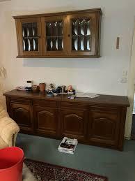 schrank wohnzimmer kommode sideboard esszimmer vitrine rustikal