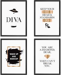 félice poster set collage din a4 fashion schwarz weiß gold dekoration wohnung modern wand deko wohnzimmer zimmer