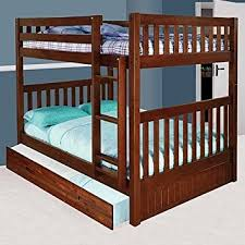 amazon com discovery world furniture full over full bunk bed with