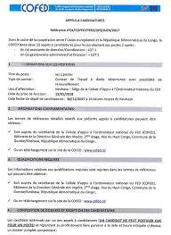 mediacongo net offre d emploi prolongation de date