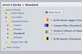 Mtg Decks Under 20 by Deckstats Net Magic The Gathering Deck Builder Statistics