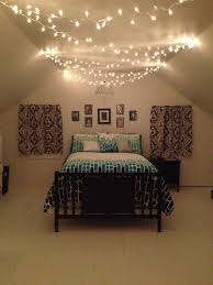 Teenage Bedroom Black White And Teal With Christmas Lights One Direction Framed Pictures For Marley Olivia