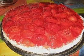 erdbeer creme kuchen