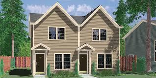2 Bedroom Cabin Plans Colors House Front Color Elevation View For D 341 Duplex House Plans