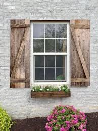 Rustic Window Shutters 100 Up Cycled Reclaimed Wood FREE Inside Decor 7