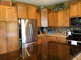 Upper Corner Kitchen Cabinet Ideas by Hickory Wood Cherry Shaker Door Upper Corner Kitchen Cabinet