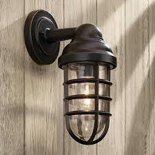 marlowe bronze 13 1 4 high metal cage outdoor wall light 8f958