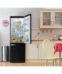 Buy Bush BFFF60 Retro Fridge Freezer Black At Argoscouk