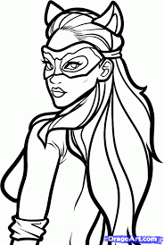 Epic Catwoman Coloring Page 48 About Remodel Free Colouring Pages With
