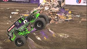 100 Monster Trucks Indianapolis Grave Digger Freestyle Jam January 2014