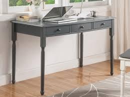 vente unique bureau bureau babord 3 tiroirs pin massif mdf gris