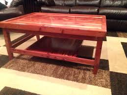 Cedar Coffee Table Amazing Rustic Lodge Log And