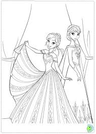 Online Frozen Coloring Pages For Kids