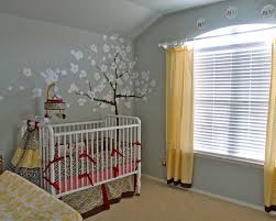 bedroom grey wall nursery room with traditional baby crib also