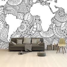 asiatisch schwarz weiß tapete